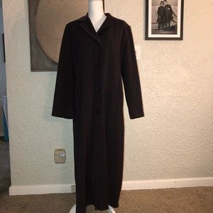 Excellent Chocolate Brown Full length Trench Coat
